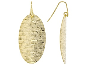 MODA AL MASSIMO™ 18K Yellow Gold Over Bronze Oval Textured Hammered Earrings