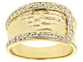 Moda Al Massimo® 18K Yellow Gold Over Bronze  cubic zirconia Buckle Ring 0.70ctw