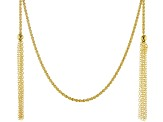 Moda Al Massimo 18K Yellow Gold Over Bronze Rope Tassel Wrap Necklace 100 Inches