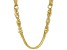 MODA AL MOSSIMO™ 18K Yellow Gold Over Bronze Multi-Strand Chain with Side Link Stations 28