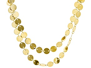 Moda Al Massimo ® 18k Yellow Gold Over Bronze Multi Row Necklace 32 inch