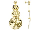 Moda Al Massimo ® 18k Yellow Gold Over Bronze Hammered Earrings