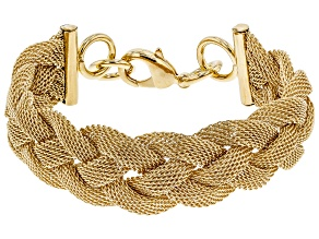 Moda Al Massimo® 18k Yellow Gold Over Bronze 20.93MM Woven Chain Bracelet
