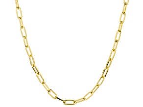 Moda Al Massimo ® 18k Yellow Gold Over Bronze Oval Link Necklace 34 inch