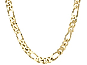 Moda Al Massimo™ 18K Yellow Gold Over Bronze 12MM Gauge Figaro Necklace