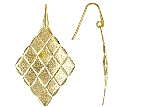 Moda Al Massimo™ 18K Yellow Gold Over Bronze Kite Shape Earrings