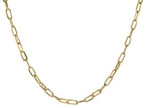 Moda Al Massimo™ 18K Yellow Gold Over Bronze Paperclip Chain 23 Inch Necklace