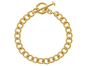 Moda Al Massimo™ 18K Yellow Gold Over Bronze Cuban Link 7.5 Inch Bracelet