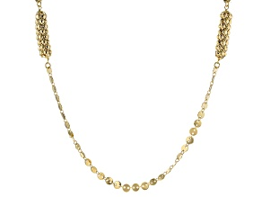 Moda Al Massimo™ 18K Yellow Gold Over Bronze Mirror Chain 34.5 Inch Necklace