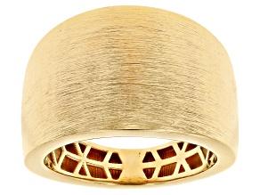 Moda Al Massimo™ 18K Yellow Gold Over Bronze Cigar Band Ring