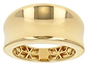 Moda Al Massimo™ 18K Yellow Gold Over Bronze Dome Band Ring