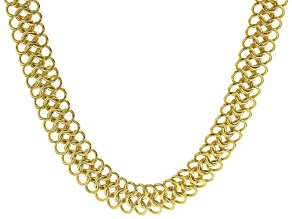 Moda Al Massimo™ 18K Yellow Gold Over Bronze 18MM Multi Link 18 Inch Necklace