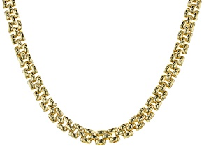 Moda Al Massimo™ 18K Yellow Gold Over Bronze 9.25MM Panther Chain 18 Inch Necklace
