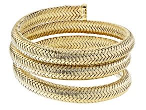 Moda Al Massimo™ 18K Yellow Gold Over Bronze Wrapped Coil Bangle Bracelet