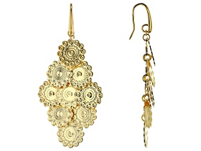Moda Al Massimo™ 18K Yellow Gold Over Bronze Chandelier Dangle Earrings