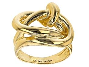 Moda Al Massimo™ 18K Yellow Gold Over Bronze Knot Ring