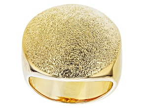 Moda Al Massimo™ 18K Yellow Gold Over Bronze Laser-Cut Dome Ring