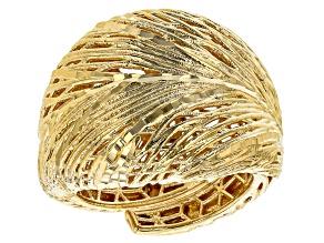 Moda Al Massimo™ 18K Yellow Gold Over Bronze Filigree Dome Ring