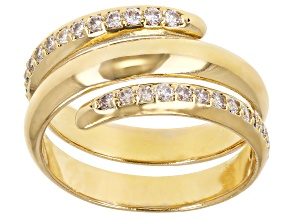 Moda Al Massimo™ Cubic Zirconia 18K Yellow Gold Over Bronze Spiral Ring 1.10ctw