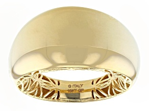 Moda Al Massimo™ 18K Yellow Gold Over Bronze Polished Dome Ring