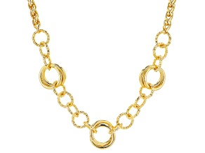 18K Yellow Gold Over Bronze 20.3MM Necklace