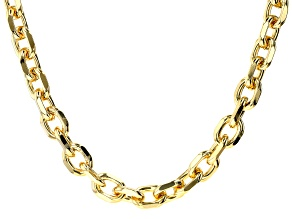 18K Yellow Gold Over Bronze Rolo Chain