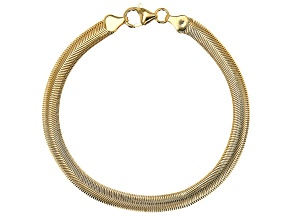18K Yellow Gold Over Bronze Serpentine Chain