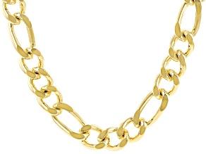 18K Yellow Gold Over Bronze Figaro Chain