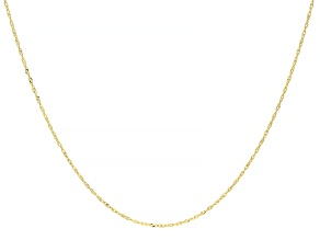 14k Yellow Gold Singapore Necklace 18 inch