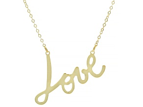14k Yellow Gold Love Necklace 18 inch
