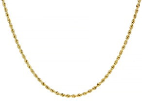 14k Yellow Gold Rope Chain Necklace 18 inch