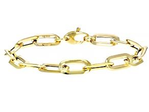 14k Yellow Gold Oval Link Bracelet