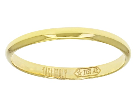 14k Yellow Gold Polished Band Ring