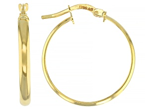 10k Yellow Gold High Polished Hoop Earrings 20mm