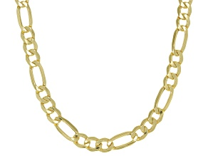 10k Yellow Gold Figaro Chain Necklace 22 inch