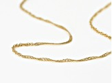 10k Yellow Gold Singapore Chain Necklace 22 inch