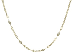 10k Yellow Gold Anchor Chain Necklace 18 inch