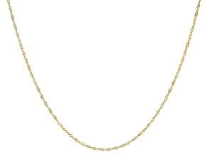 14K YELLOW GOLD SINGAPORE CHAIN NECKLACE 16 INCHES