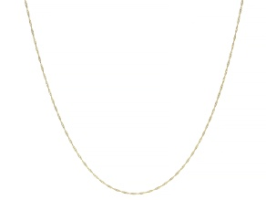 14K YELLOW GOLD SINGAPORE CHAIN NECKLACE 24 INCHES