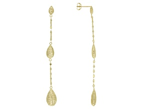 10k Yellow Gold Drop Earrings