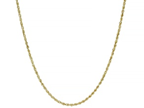 14K YELLOW GOLD ROPE CHAIN NECKLACE 18 INCHES