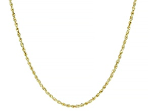 14K YELLOW GOLD ROPE CHAIN NECKLACE 20 INCHES