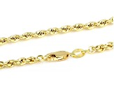 14K YELLOW GOLD 2.9MM ROPE CHAIN NECKLACE 22 INCHES