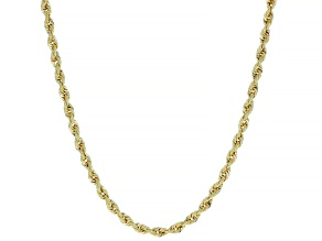 14K Yellow Gold Rope Chain Necklace 22 Inches