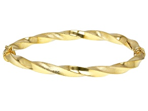 10K Yellow Gold Satin and Polished 6.75