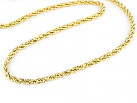 14K Yellow Gold Polished 2.8MM 30 Inch Rope Chain