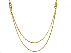 14K Yellow Gold Polished Wheat with Round Link 17