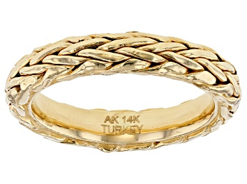Picture of 14K Yellow Gold Wheat Band Ring