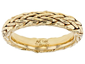 14K Yellow Gold Wheat Band Ring