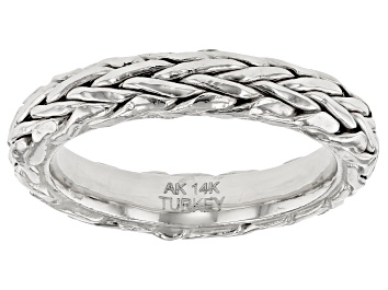 Picture of 14K White Gold Wheat Band Ring